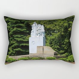 Lourdes University- Our Lady of Sylvania in the Spring (horizontal) Rectangular Pillow