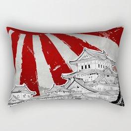 Japanese Palace and Sun Rectangular Pillow