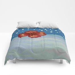 Coquelicot en mer bis Comforters