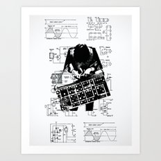 Synth Art Print