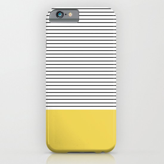 MINIMAL Green Stripes iPhone & iPod Case
