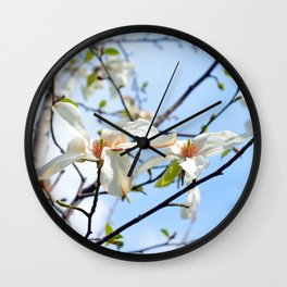 Spring Tree Flowers Wall Clock
