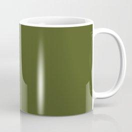 ARMY GREEN dark solid color Coffee Mug