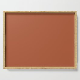 Terracotta Red Brown Single Solid Color Shades of The Desert Earthy Tones Serving Tray