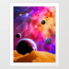 Space Solitude Art Print