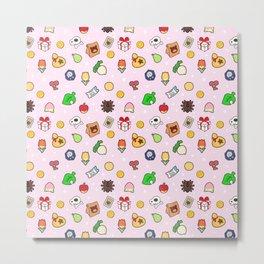 ac cute pattern pink Metal Print
