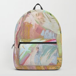 Shapes and Layers no.31 - Abstract paintings with texture Backpack