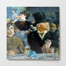 Edouard Manet The Cafe Concert Metal Print