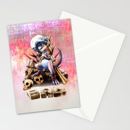 bad to the bone Stationery Cards
