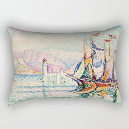 """Paul Signac """"Antibes - Morning"""" Rectangular Pillow"""