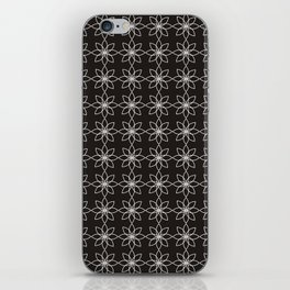 Black and White Floral Pattern iPhone Skin