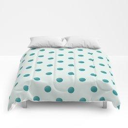 dots  dark cyan on lightblue Comforters