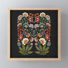 Plant a garden Framed Mini Art Print