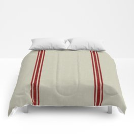 Vintage French Country Grainsack Berry on Linen for Twin and XL Twin bedding Comforters