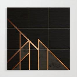 Black & Gold 035 Wood Wall Art