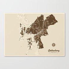 Gothenburg - The city & the sea Canvas Print