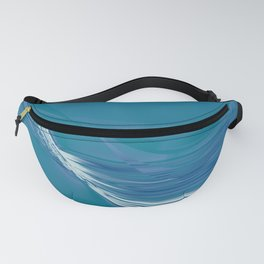 Blue Wave Abstract Fanny Pack