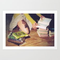 Bookish 04 Art Print