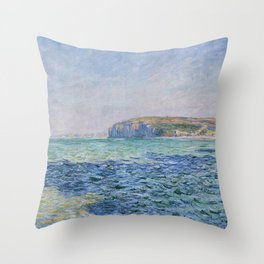 Shadows on the Sea at Pourville by Claude Monet Throw Pillow