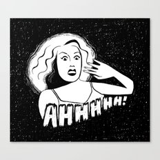 Classic horror movie scream Canvas Print