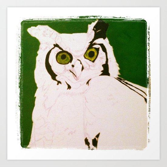 mystic's owl Art Print