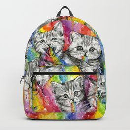 Kittens Puking Rainbows Pattern Backpack