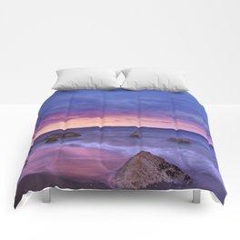 Ocean Beach Dusk Sunset Photography Comforters