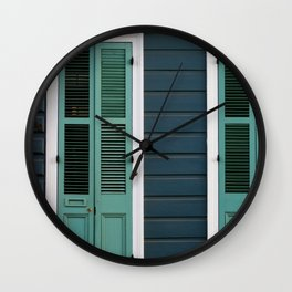 New Orleans Creole Cottage Wall Clock