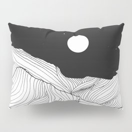 Lines in the mountains II Pillow Sham