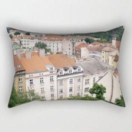 Prague Rooftops Rectangular Pillow