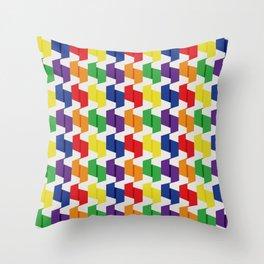 Paper Fold Colors Medium Throw Pillow