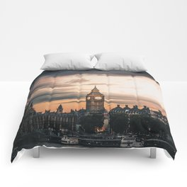 London England Cityscape (Color) Comforters