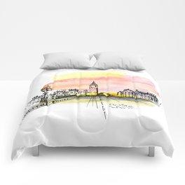 London, Big Ben. Watercolor and ink. Comforters