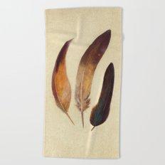 Three Feathers  Beach Towel