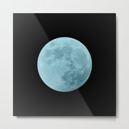BLUE MOON // BLACK SKY Metal Print