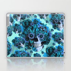 Full circle...Floral ohm skull pattern Laptop & iPad Skin