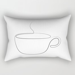 coffee or tea cup - line art Rectangular Pillow