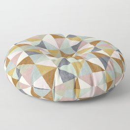 Muted geometric  Floor Pillow