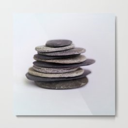 Meditation Stones - Stacked Zen Rocks  #decor #society6 #buyart Metal Print