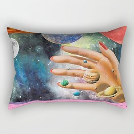 Psychedelic space Rectangular Pillow