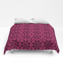Pink Yarrow Floral Pattern Comforters
