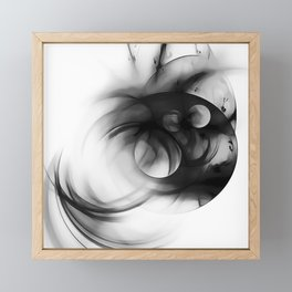 abstract fractals 1x1 reacbwi Framed Mini Art Print
