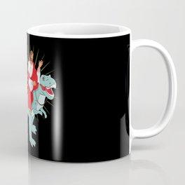 Jesus Riding A Dinosaurs Rex Gift Coffee Mug