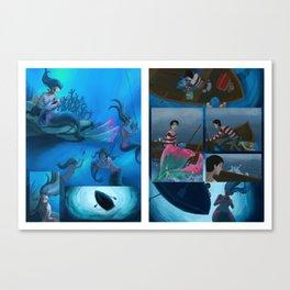 Mermaid meets Sandwich Canvas Print