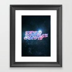Inspired Recreativity. Framed Art Print
