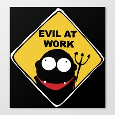 Evil at Work Canvas Print