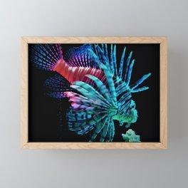 Rainbow Lionfish Framed Mini Art Print