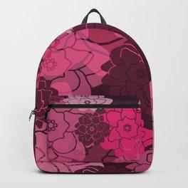 Flower Blossoms Design - pink violet pattern  Backpack
