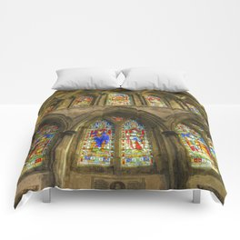Rochester Cathedral Stained Glass Windows Art Comforters