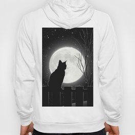 Silent Night Cat and full moon Hoody